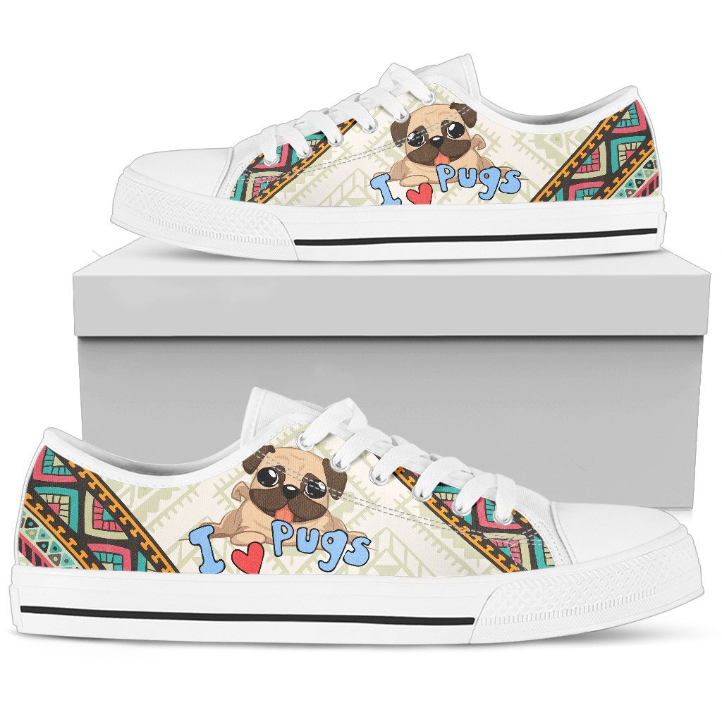 Pug Women's Low Top Shoe - Abby's Alley