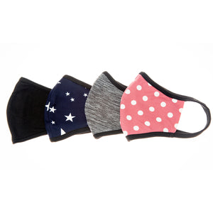 Load image into Gallery viewer, NavyStars-Black-SpaceGrey-LtMauvePolkaDot