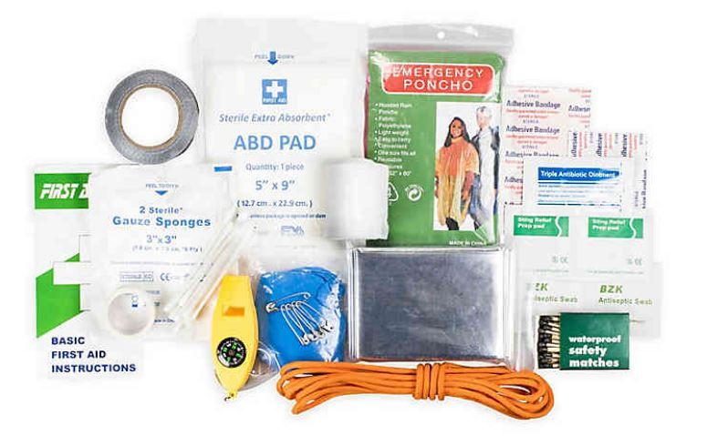 Quick Grab First Aid & Survival Kit 88-Piece
