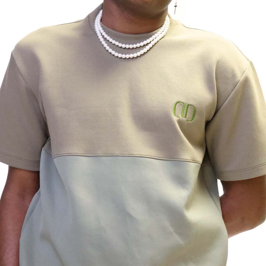 Green Dropped Shoulder Logo Shirt