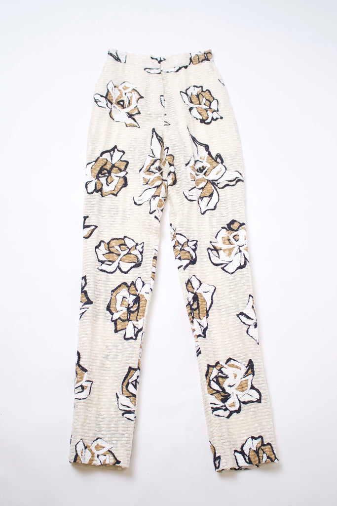 Hand Painted Floral Pants