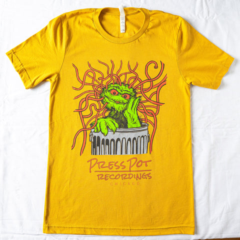 Press Pot Recording T-Shirt (Mustard)