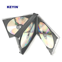 KEYIN Black Quad 4 Disc CD Jewel Case - Premium, 10 Pack