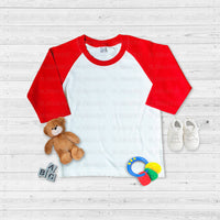 Infant Mockup - Red Raglan