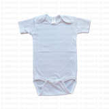Infant Short Sleeve Bodysuit - White