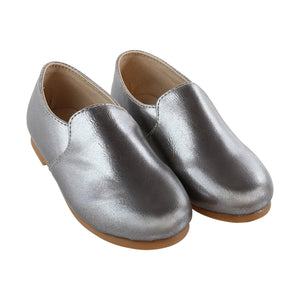 Zeebra Grey metallic loafer