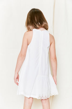 Klai 2379 White Islet Ruffle Dress