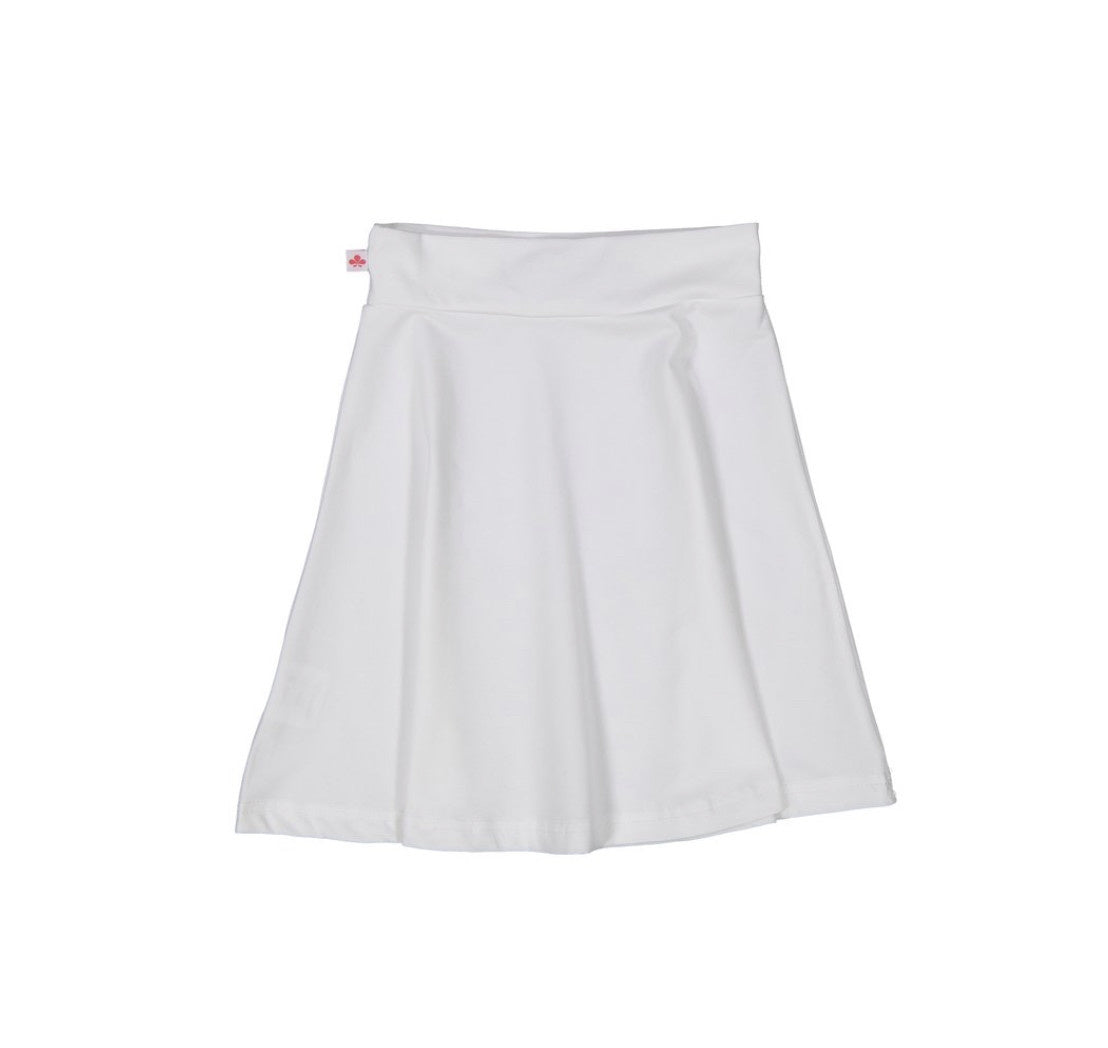 Three Bows Camp Skirt White