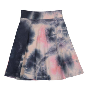 Three Bows Coral Tie Dye Skirt