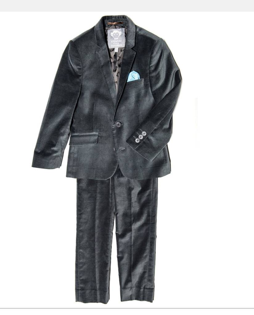 Appaman Grey velvet suit