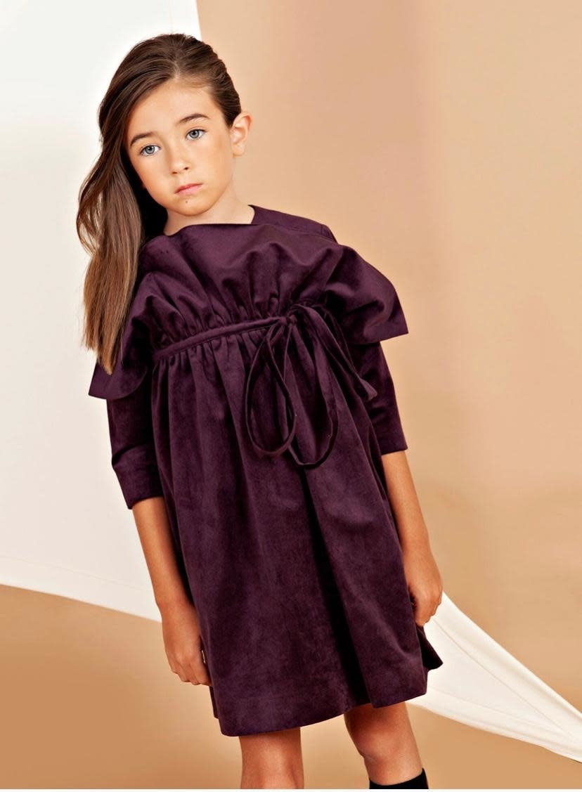 Nove 44 plum vlvt dress