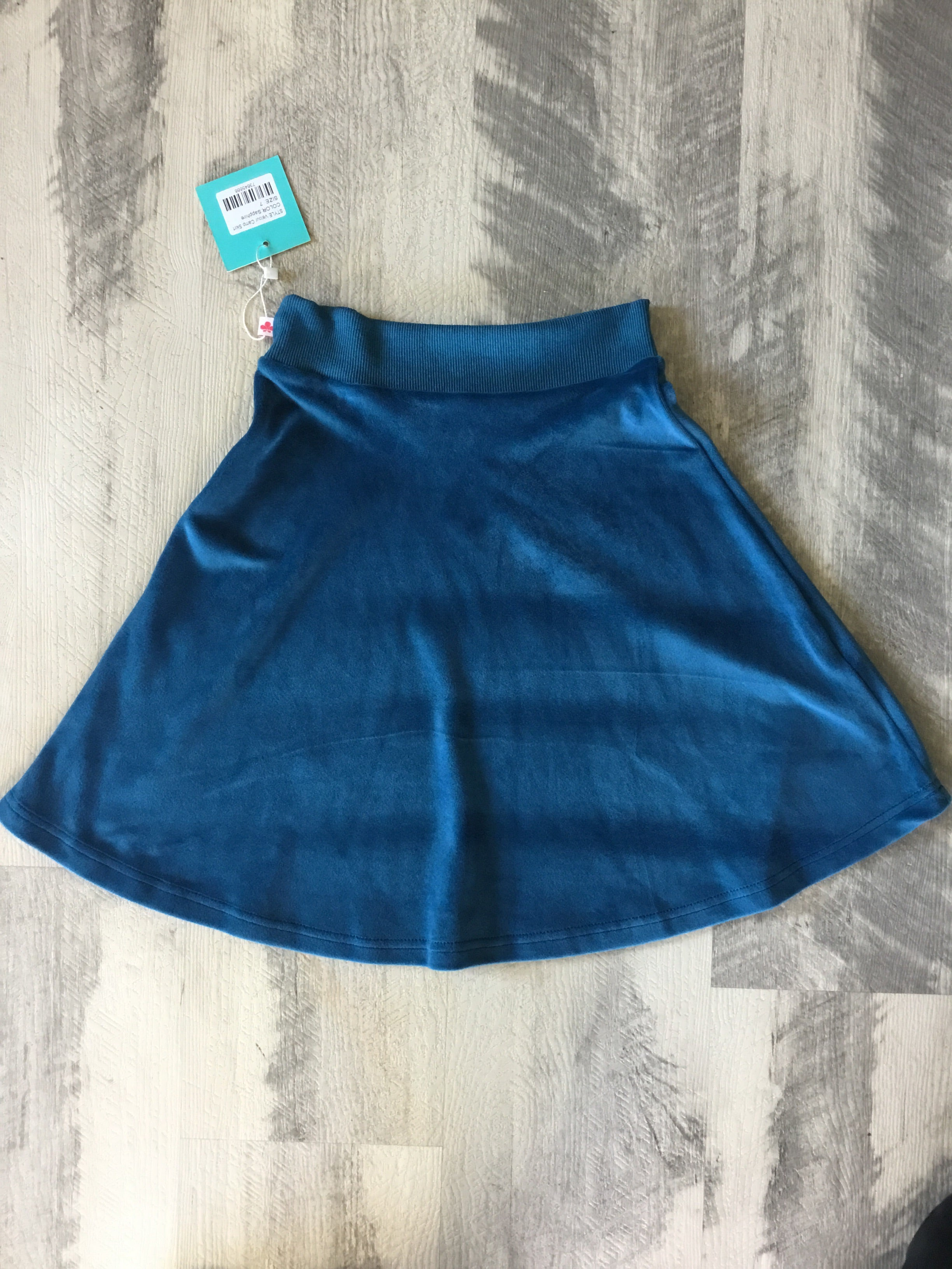 Three Bows Camp Skirt Velour Saphire