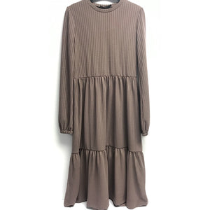 Noni 1456 Taupe Dress