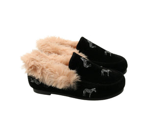 Zeebra black logo slipper