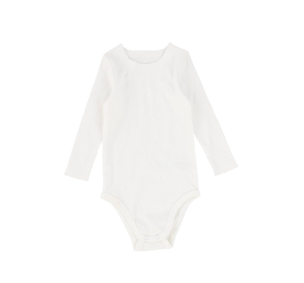 Lil Leggs Winter White Rib Onesie
