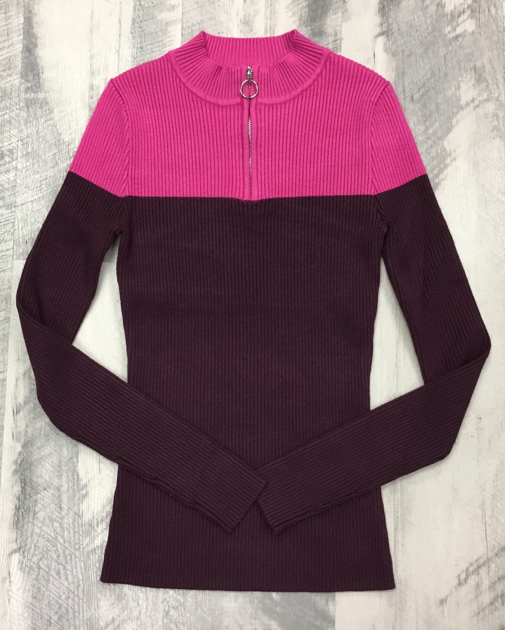 Unclear rasberry pullover 1311