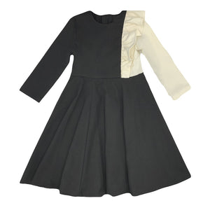 Motoreta  Alice Dress Black and White