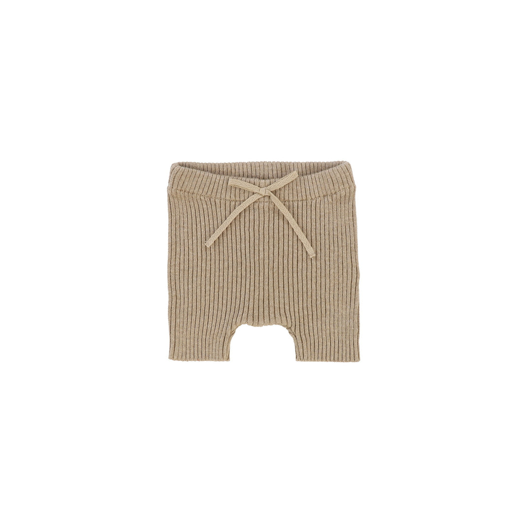 Lil Leggs Oatmeal Knit Shorts