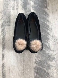 Euro Step Black Elastic Fur Bow