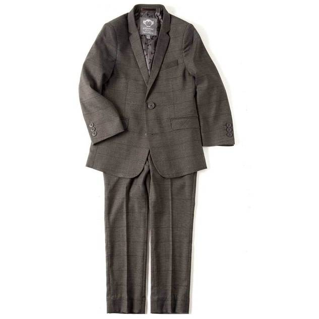 Appaman charcoal check suit