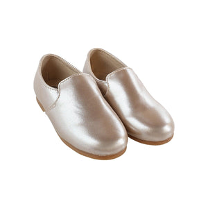 Zeebra Champagne metallic loafer