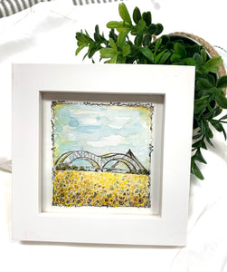 Original Memphis Framed Mini Watercolor