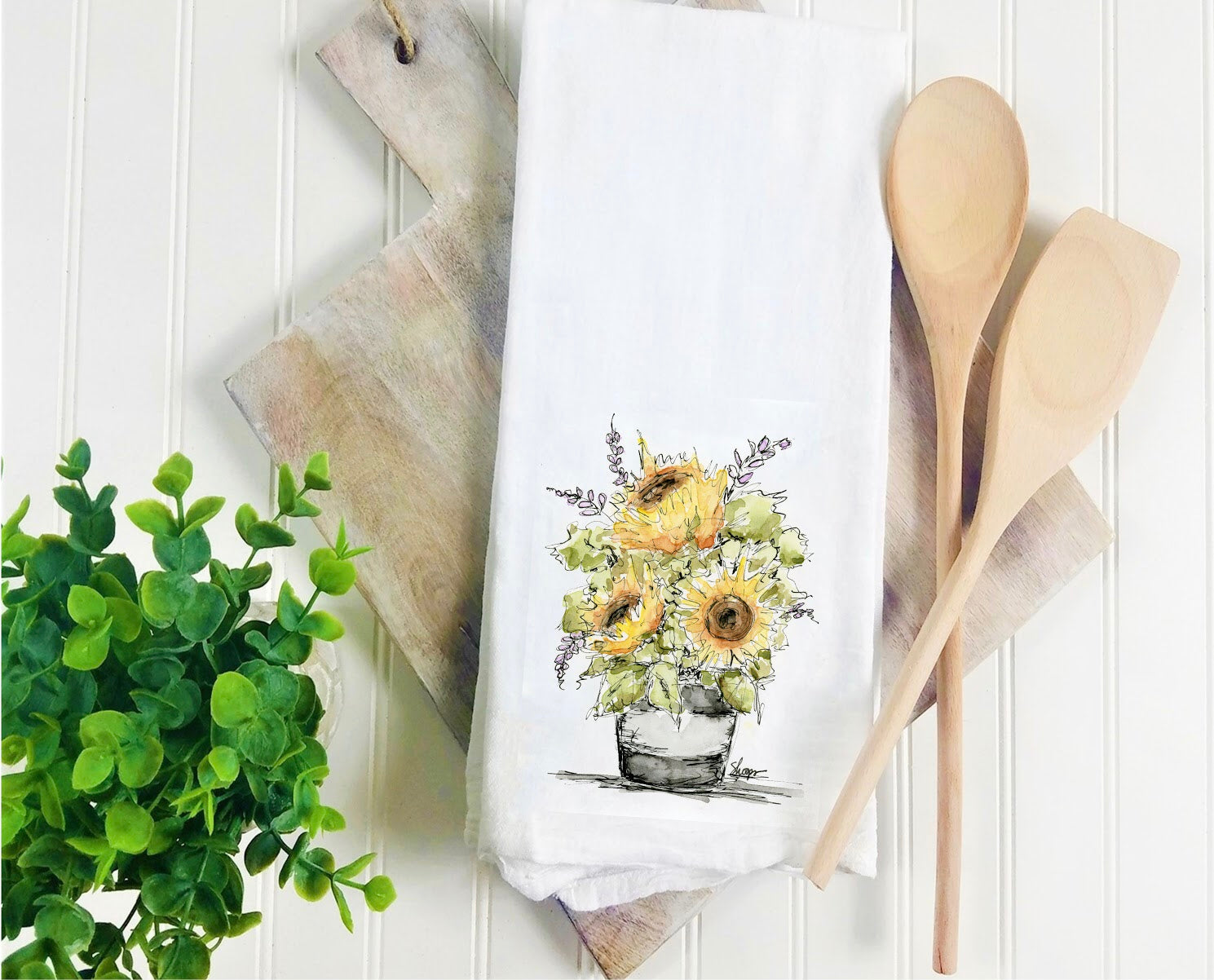 Tea Towel-Sunflower