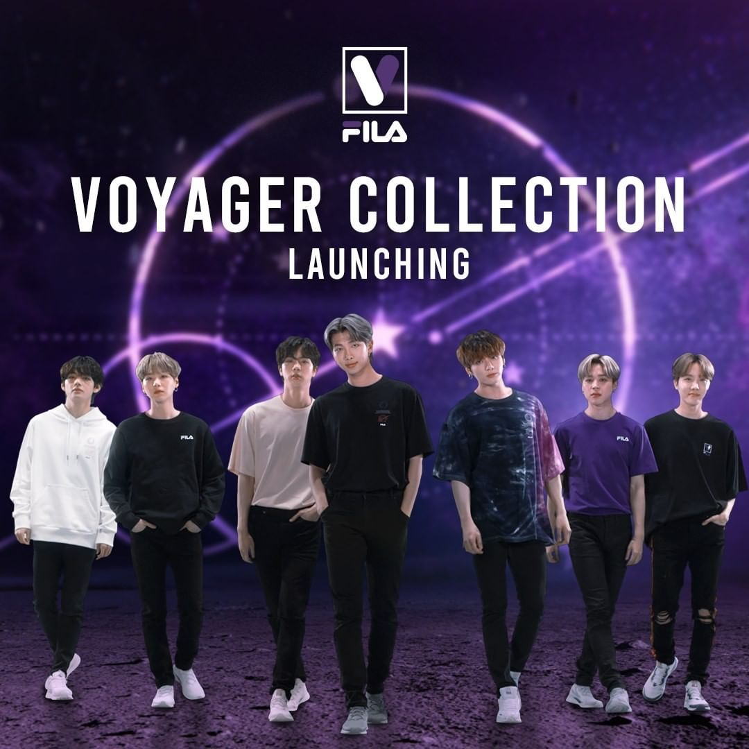 Fila bts voyager collection styleupk