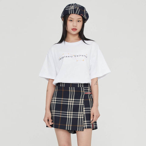 Romantic Crown String Figures T-shirt in White