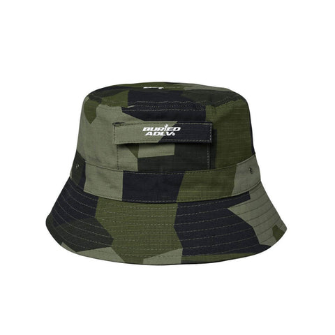 ADLV x Buried Alive Pocket Drawstring Bucket Hat Camouflage Army Green