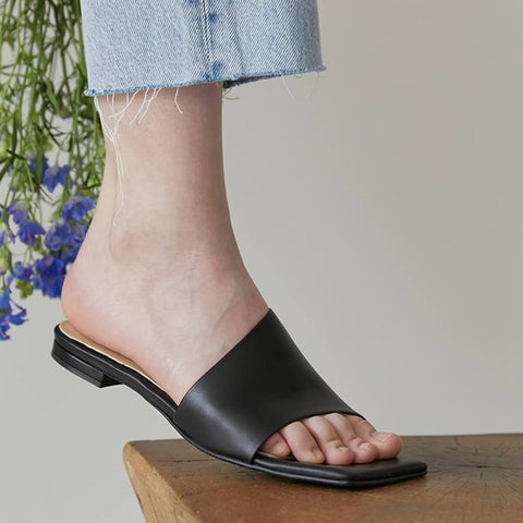 leather sandals from korea