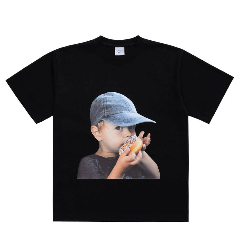 ADLV Baby Face Cap Donut Boy Oversized Graphic T-shirt styleupk