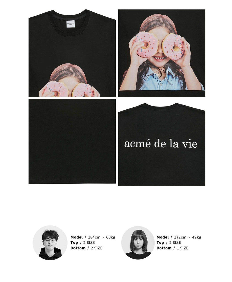 ADLV Baby Face Donuts Girl Oversized Graphic T-shirt SG ADLV