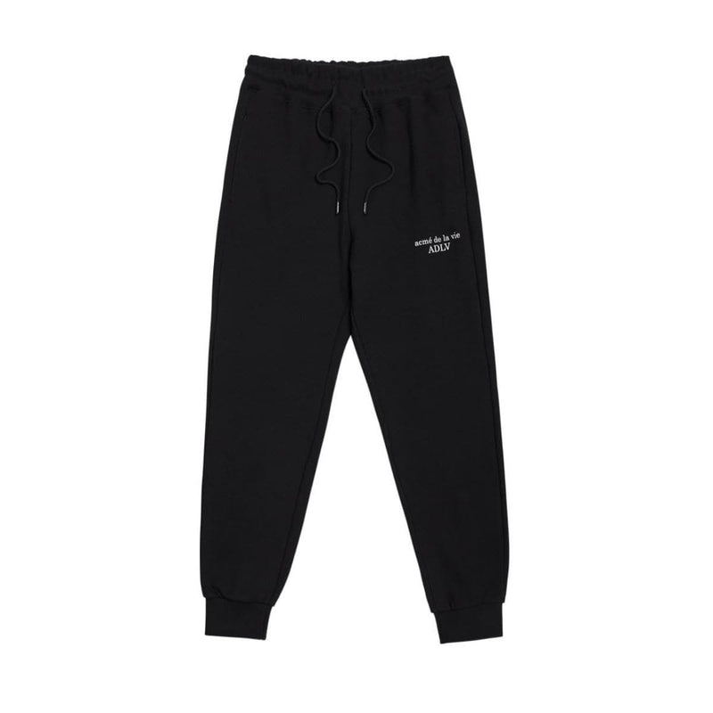 Adlv Basic Logo Pants Men Black styleupk