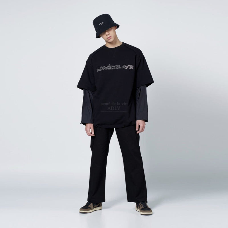 ADLV Basic Logo Washing Bucket Hat Black ADLV