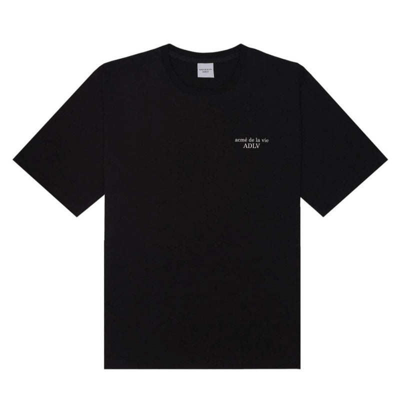 ADLV Basic Short Sleeve Oversized T-shirt Black styleupk