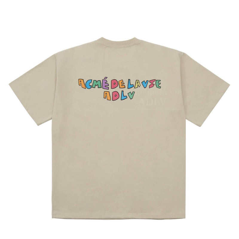 ADLV Cow Oversized Graphic T-shirt Beige ADLV