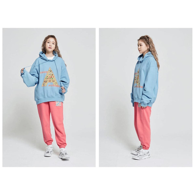 ADLV Food Pyramid Oversized Hoodie Blue styleupk