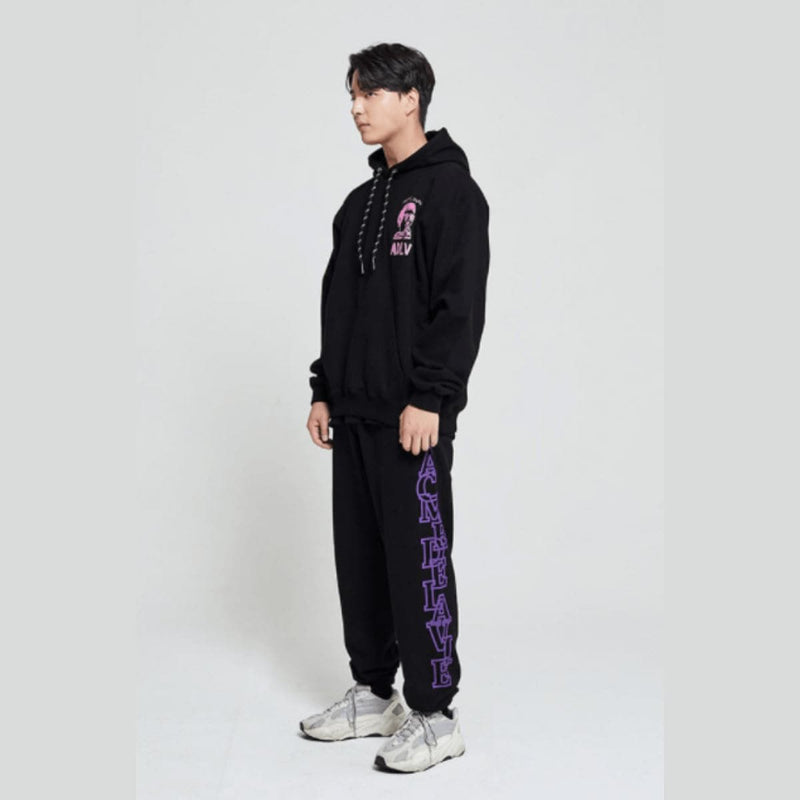 Adlv Side Logo Pants Men Purple styleupk
