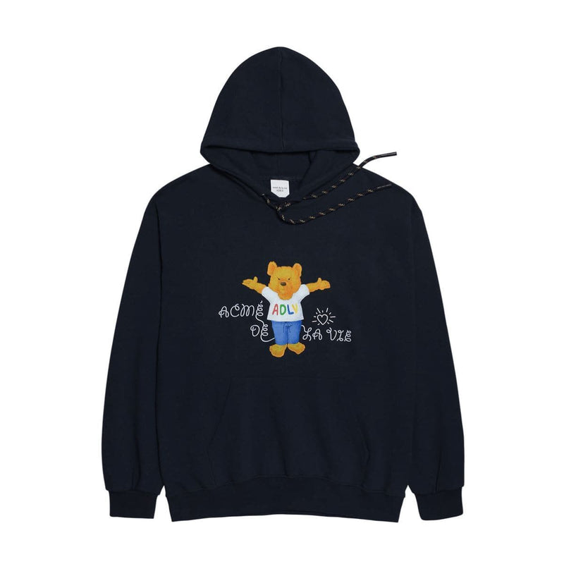 ADLV Tzuyu Little Bear Open Arms Hug Oversized Hoodie Navy styleupk
