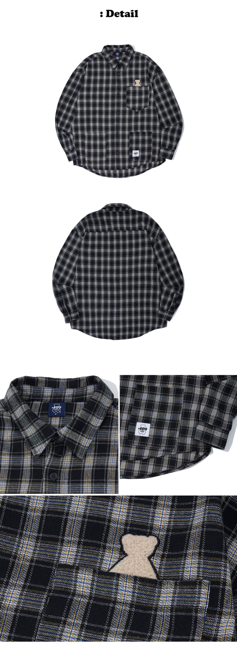 Aqo Studiospace Bear Retro Checkered Shirt AQO Studiospace