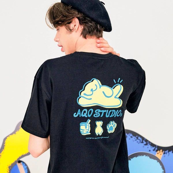 Aqo Studiospace Smile Bear Oversized T-shirt AQO Studiospace