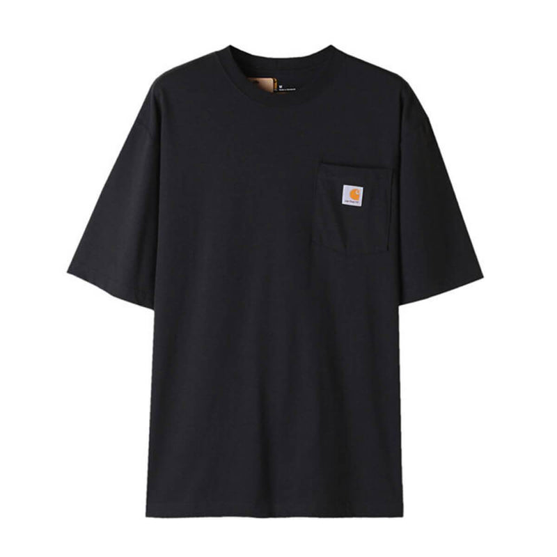 Carhatt Korea Workwear Pocket Oversized T-shirt K87 styleupk Black S