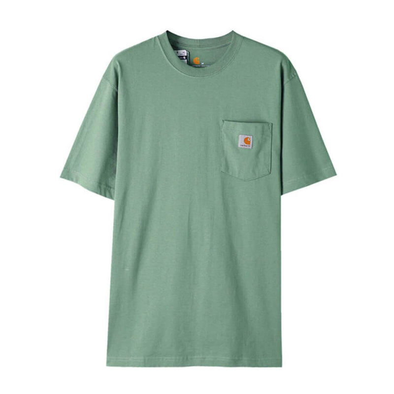 Carhatt Korea Workwear Pocket Oversized T-shirt K87 styleupk Botanical Green S