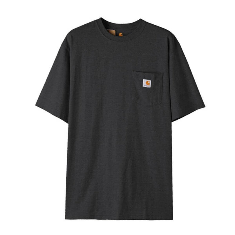 Carhatt Korea Workwear Pocket Oversized T-shirt K87 styleupk Carbon Heather S