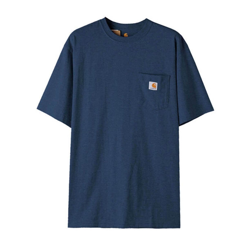Carhatt Korea Workwear Pocket Oversized T-shirt K87 styleupk Dark Blue Heather S