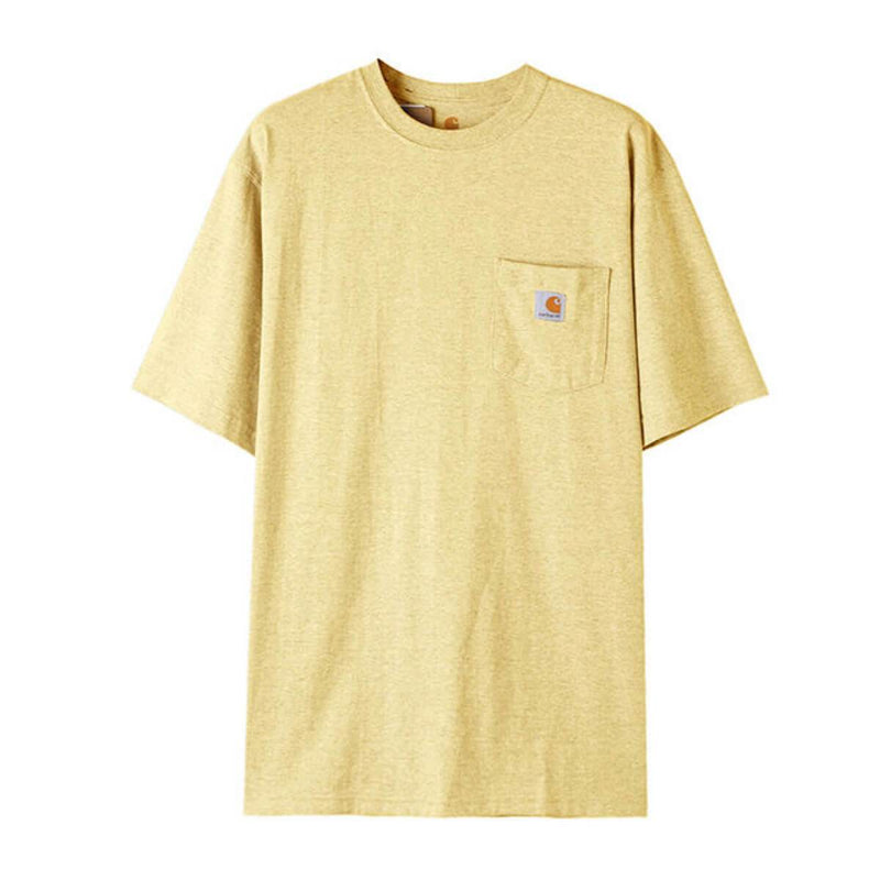 Carhatt Korea Workwear Pocket Oversized T-shirt K87 styleupk Golden Haze Snow Heather S