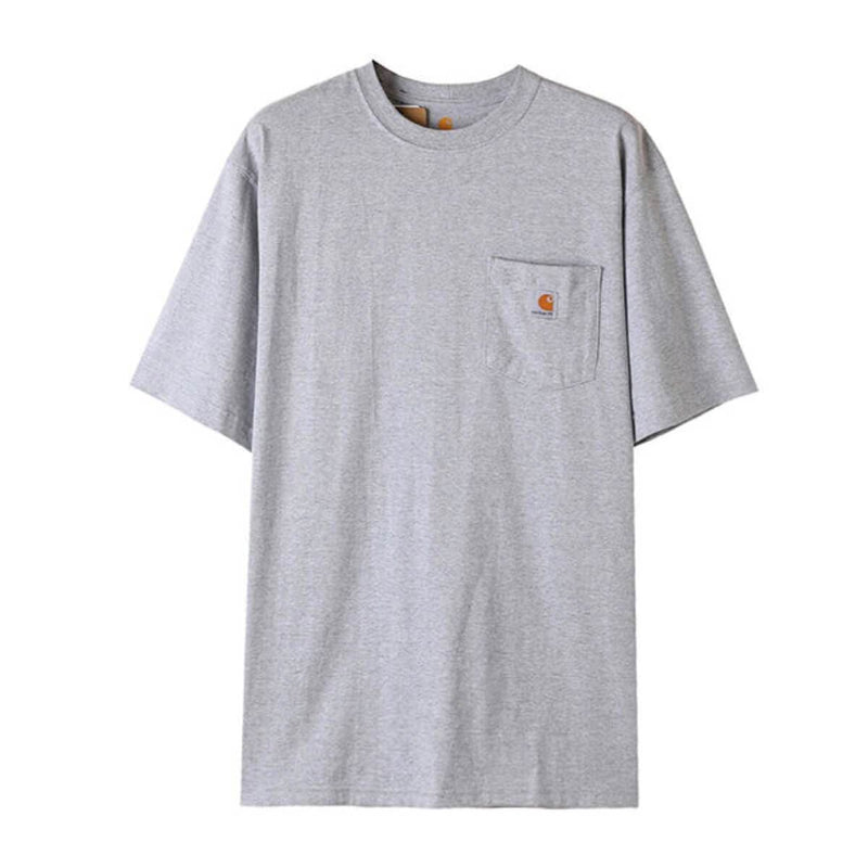 Carhatt Korea Workwear Pocket Oversized T-shirt K87 styleupk Grey S