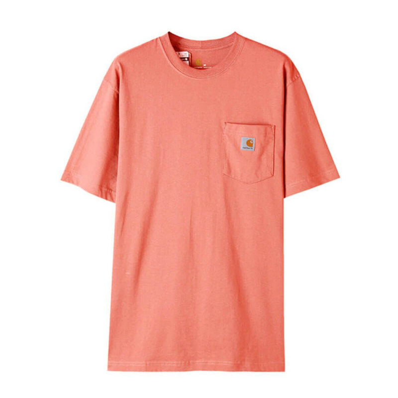 Carhatt Korea Workwear Pocket Oversized T-shirt K87 styleupk Haze Coral S