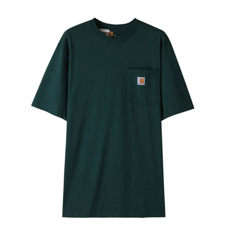 Carhatt Korea Workwear Pocket Oversized T-shirt K87 styleupk Hunter Green S